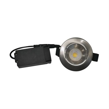 Nordtronic Velia low profile 3000K Downlight Rund stål